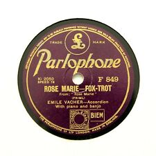 "EMILE VACHER (Accordion) ""Rose Marie / Marche Indienne"" (E+) PARLOPHONE [78 RPM]"
