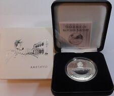 2012 FIJI 1 $ DOLLAR Treasures of Mother Nature URUGUAY AMETHYST BOX + COA