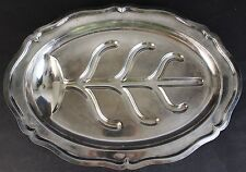 Vtg Wilcox Co. International Silverplate Footed Meat Serving Tray
