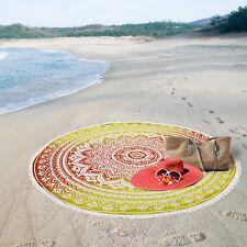 Round Beach Towel Throw Hippie Tapestry Yoga Mat  Bohemian