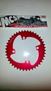 MCS BMX 104 4 BOLT CHAINRING GEAR USA MADE CNC 45T RED