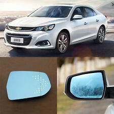 Rearview Mirror Blue Glasses LED Turn Signal with Heating For Chevrolet Malibu