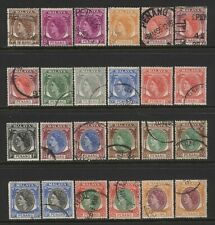 Malaya States Penang Collection 24 QEII Values Used