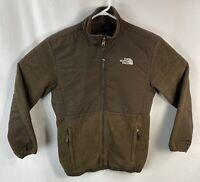 The North Face Girls Extra Large Denali Fleece Jacket Coat Brown XL