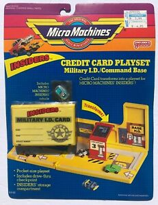 Micro Machines INSIDERS Credit Card Playset - Military I.D. / Command Base