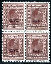 JUGOSLAWIEN 1928 219 ** POSTFRISCH im VIERERBLOCK 1200€(S1382