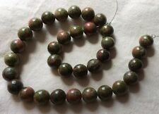 Unakite 12mm Plain Rounds - 40cm Strand from Jewellery Maker - New