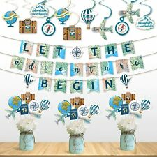 Travel Themed Party Decorations Set Adventure Party World Awaits Birthday Baby