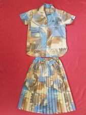 Womens Heather Valley Skirt and Blouse Vintage Dress Size  UK12 (CB3)