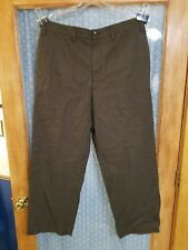 Eddie Bauer Brown Plaid 100% Cotton 36 X 32 Relaxed Fit Casual Pants NWT