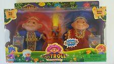 DAM Playmates Totally Troll KING AZUL and QUEEN RUBY Troll Dolls Box Set NIB