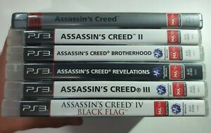 Assassin's Creed Game Bundle Set: Altair, Ezio, Edward, Connor x6 Games Sony PS3
