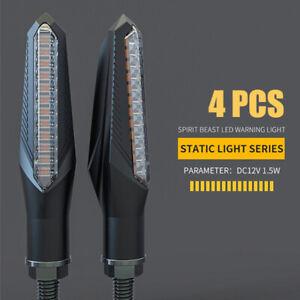4 STÜCK 12V LED MOTORRAD BLINKER E-GEPRÜFT BLINKLEUCHTE MINI UNIVERSAL SCHWARZ