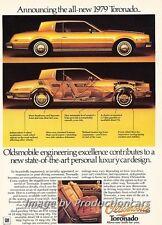 1979 Oldsmobile Toronado Original Advertisement Print Art Car Ad J687