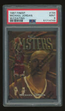 1997-98 Topps Finest #154 Michael Jordan w/ Coating - Gold Rare - PSA 9 MINT