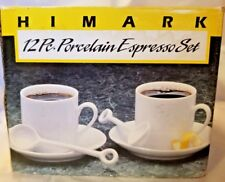Espresso Set Porcelain 12 Pieces Himark  Service for 4 New In Box