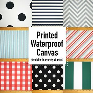 """NEW! Printed Canvas Waterproof Outdoor Fabric 59"""" W 600 Denier Sold by The Yard"""