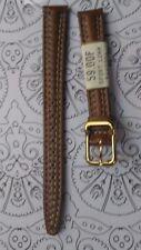 BRACELET  DE MONTRE watch band  /// cuir véritable marron  12mm  ///HD23