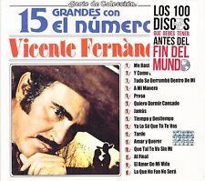 Vicente Fernandez 15 Grandes Con El Numero Uno CD Sealed