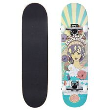 Cal 7 Psychedelic Complete Popsicle Skateboard,7.75 Inch, Gifts for Skateboarder