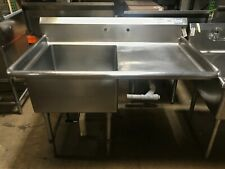 52 Stainless Steel 1 Compartment Commercial Sink With Right Drainboard