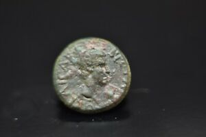 Britannicus AE of Aeolis, Aegae. Chaleos, magistrate.43-55 AD.N66A