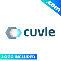CUVLE.com Brandable domain name for sale PREMIUM LOGO One Word 1 Tech Letters IT