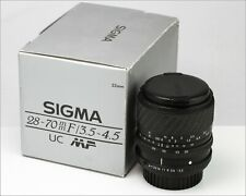 Vintage SIGMA Multi-Coated Japan Lens - Ø52 UC ZOOM 28-70mm 1:3.5-4.5 in Box
