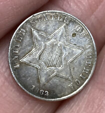 Nice 1862 Three Cent Silver Piece Trime 3c Coin YOU GRADE!