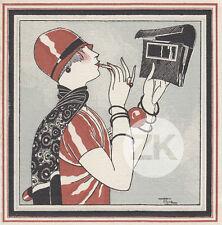 LANCEL Luxe Paris MARONIQUERIE Orfèvre HEMJIC Carte publicitaire 1920s
