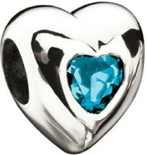 Authentic NEW MISS Chamilia December Birthstone Heart Bead 2053-0012  RETIRED