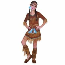 Filles Native Indian costume robe fantaisie Amérique Squaw Costume Kids Childs 4-6