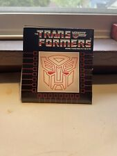 Transformers G1 Original Vintage Check list toy Catalog Poster Lot