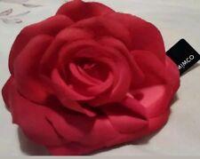 Mimco Red Rose 2 In1clip Brooch Ponytails Holder Fascinator