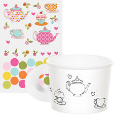 TEA TIME Activity TREAT CUPS Birthday Tea Party Craft Supplies Favors