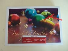 "Hallmark Boxed Lot Of 12 Christmas Cards ""Navidad es Familia"" ~ Espanol ~ #sd46"