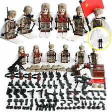 WWII Soviet Russian Soldiers Mini Figures Military Ski Russia WW2 Set Fit Lego