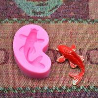 3D Carp Fish Silicone Mold Cake Mold Fondant Chocolate Baking Decorating Mould S
