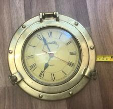 Brass Porthole Quartz Clock