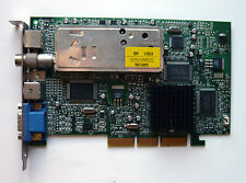 Matrox MGA Marvel G450 G45+MTVA32DBI 32MB AGP VGA Card with TV Tuner - Test OK!