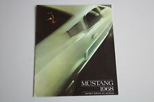 Ford Mustang Prospect Brochure Brochure English 1968