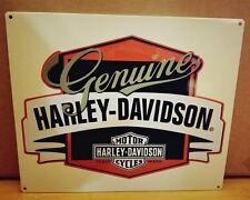 NEW METAL DECOR* HARLEY DAVIDSON HD PLAQUE shop emblem logo black white orange