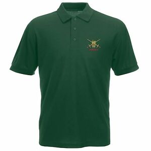 Army Polo Shirt Embroidered Logo British Army