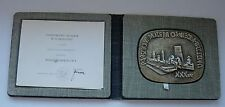 POLISH POLAND KL AUSCHWITZ NAZI CONCENTRATION CAMP MEDAL + DOC boxed