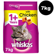 Whiskas 1+ Adult Cat Complete Dry with Chicken 7kg Cat Food