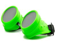 Cyber Gafas Steampunk GOTH OVALADO Plástico Soldadura Gafas de sol 100% UV400