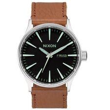 Nixon A105-1037 Mens Sentry Black Saddle Watch