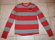 Hollister Mens Juniors Medium Large Striped Long Sleeve Shirt