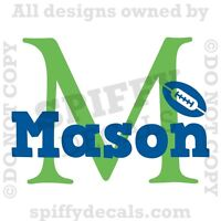 PERSONALIZED NAME MONOGRAM NAME SPORTS Vinyl Wall Decal Sticker Graphic Nursery