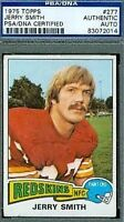 Jerry Smith D.86 Signed 1975 Topps Autograph Psa/dna Authentic